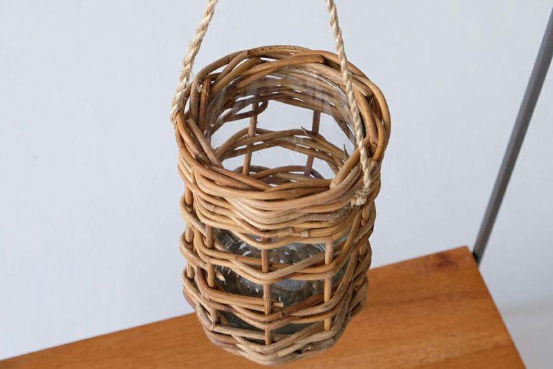 アラログで編んだ花瓶