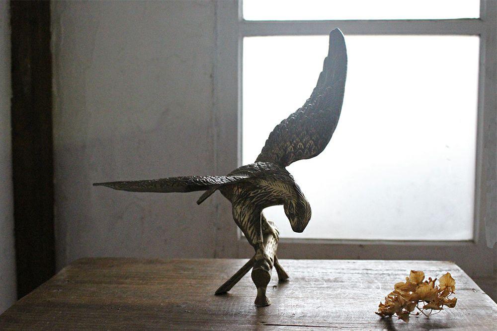 アンティークブラスオブジェクト・Falcon