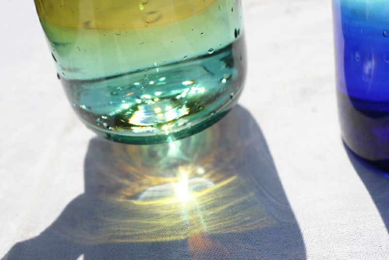 メキシコのおしゃれなガラスコップ
