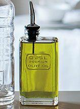 オリーブオイルボトル食卓