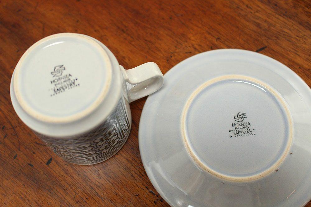 ビンテージ・ホーンジーデミタスカップ&ソーサーTAPESTRY