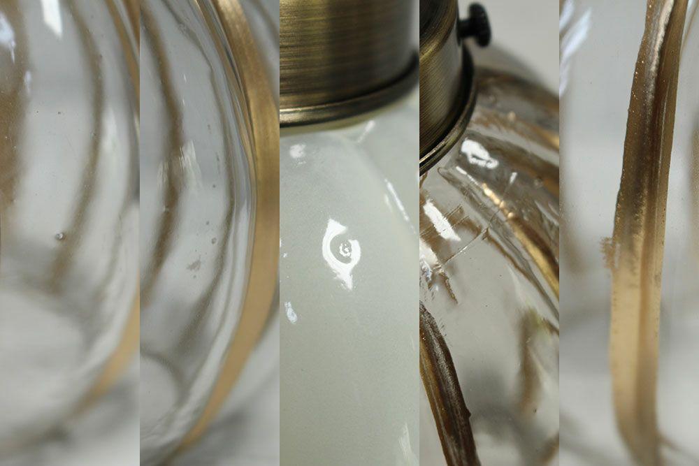 パンプキン・ガラスシェードランプ