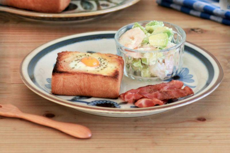 朝食のワンプレートに
