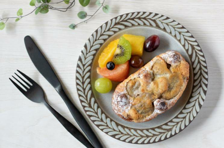 北欧風のお皿朝ごはん