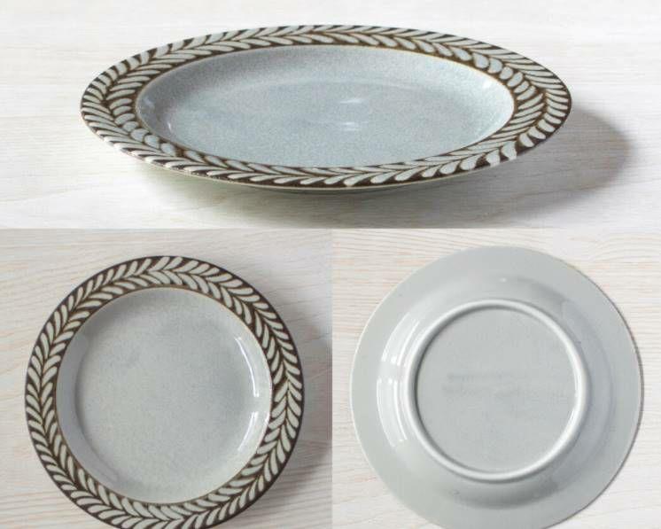 北欧風のお皿グレイ