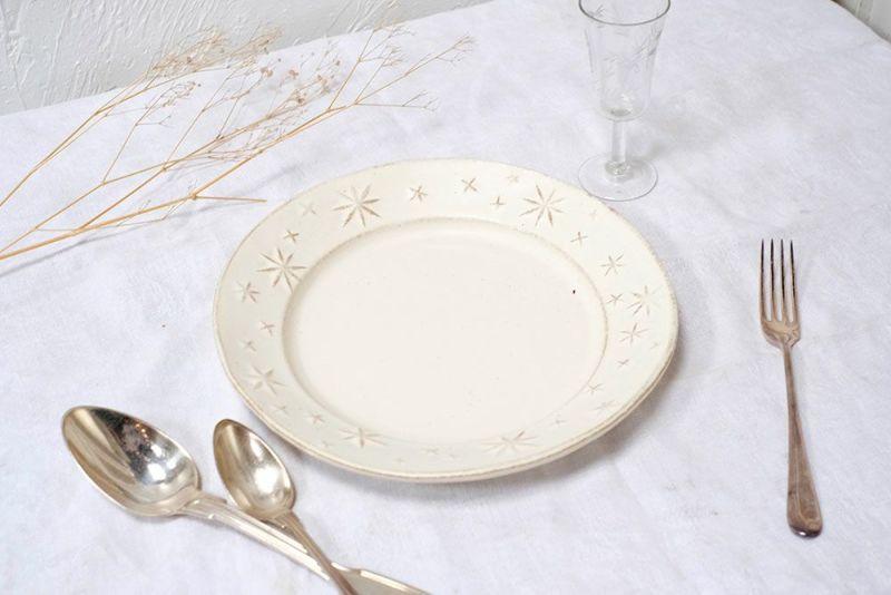 星の模様のお皿