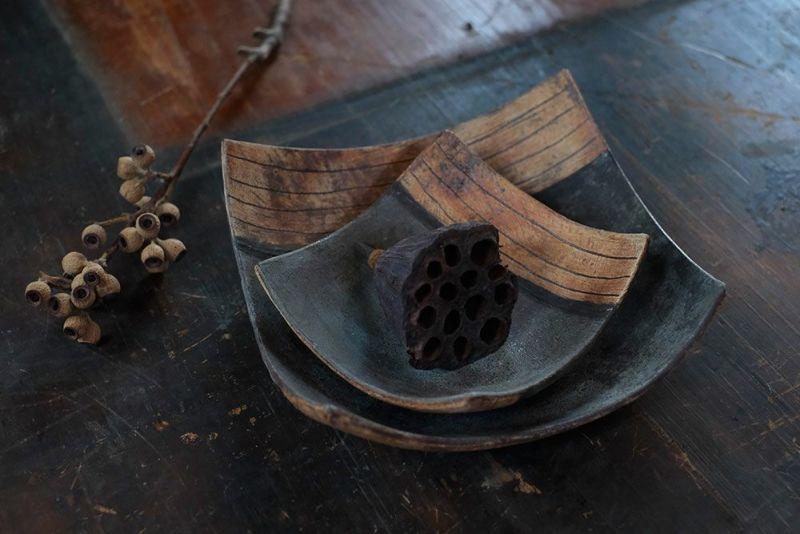 笠間焼の角鉢