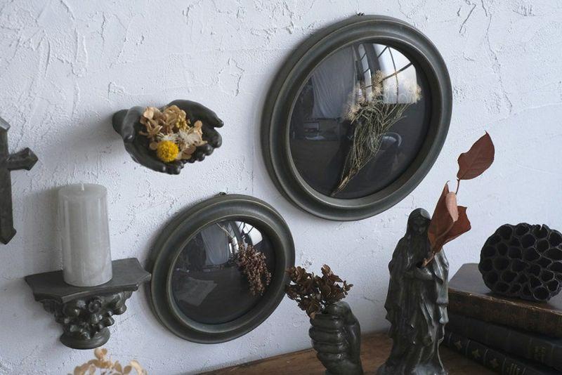 陶器でできたガラスフレーム