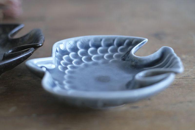 小鳥柄の美濃焼小皿