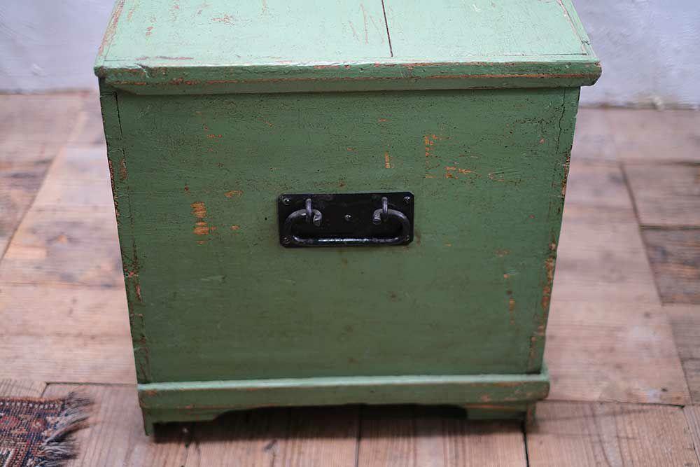 アンティーク・ペイントブランケットボックス