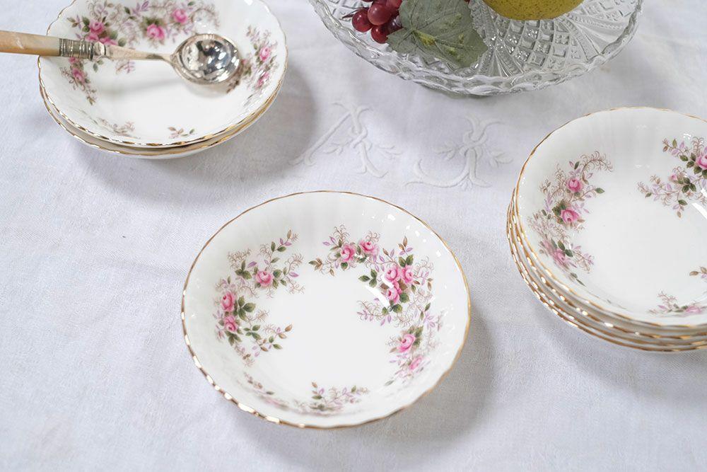 ビンテージ・Royal Albertデザートボウル/lavender rose